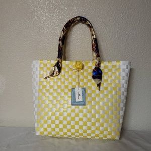 Classic Checkered Design Tote Bag Bayong